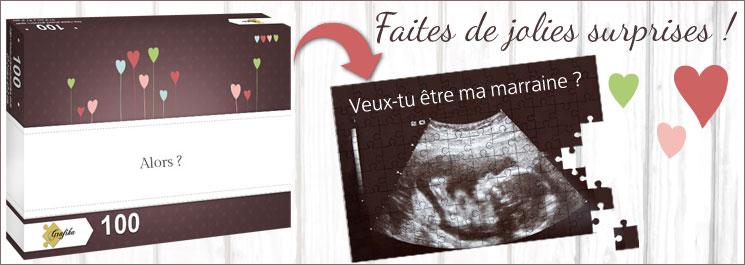 puzzle annonce sexe bébé surprise