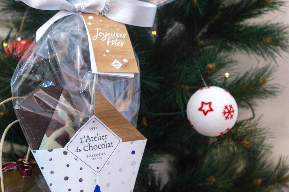 bouquet de chocolat de noel l'atelier du chocolat et sapin